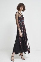 French Connection Edith Floral Long Sleeved Maxi Dress