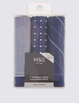 Marks and Spencer 3 Pack Handkerchiefs with Sanitized Finish®
