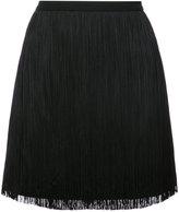 Saint Laurent tassel mini skirt - women - Silk/Acetate/Viscose - 40