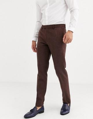 Harry Brown wedding tweed heritage slim fit suit trousers