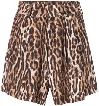 R 13 Leopard Print Shorts