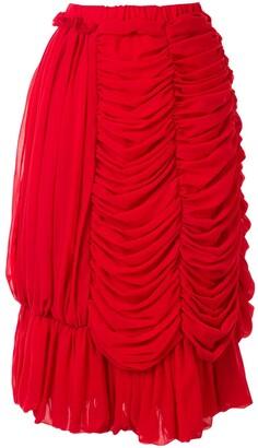 Comme des Garcons Draped Design Skirt