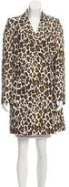Stella McCartney Linen Leopard Print Coat