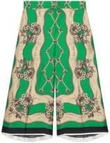 Gucci Garden chains print silk Bermuda short