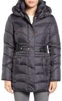 Via Spiga Women's Snap Detail Pillow Collar Puffer Coat