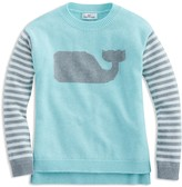 Vineyard Vines Girls' Striped Whale Sweater