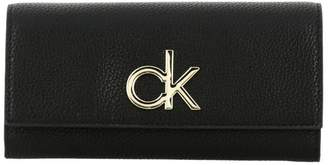 Calvin Klein Wallet Re-lock Wallet In Synthetic Leather With Monogram