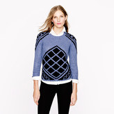 J.Crew Handknit tile sweater