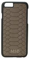 GiGi New York Personalized Embossed Python Leather iPhone 6 & 6S Case