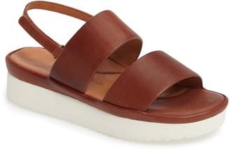 L'amour Des Pieds Abruzzo Slingback Platform Wedge Sandal