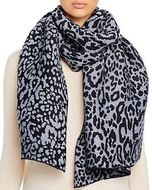 Bloomingdale's Pleated Animal Scarf - 100% Exclusive