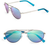 Calvin Klein 55mm Mirrored Aviator Sunglasses
