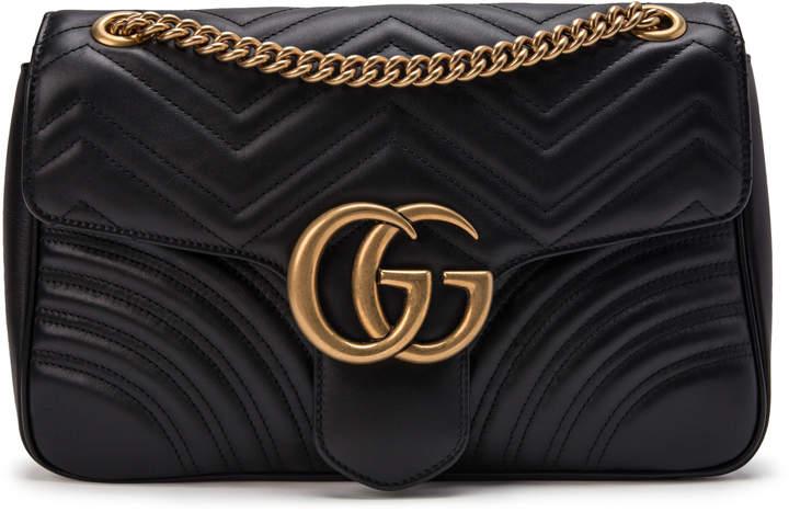 Gucci Marmont Shoulder Matelasse Medium Black