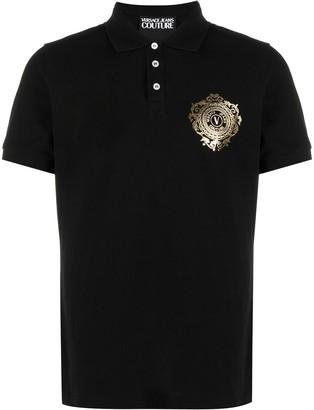 Versace Jeans Couture Foil Crest Polo Shirt