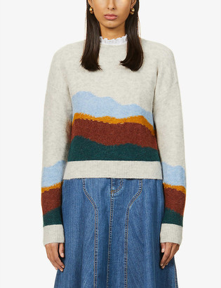 Sessun Grand View striped knitted jumper