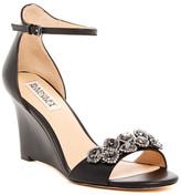 Badgley Mischka Clear Crystal Embellished Wedge Sandal