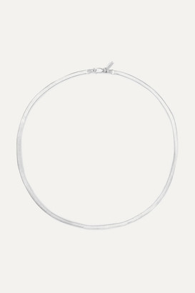 Loren Stewart - Herringbone Silver Necklace - one size
