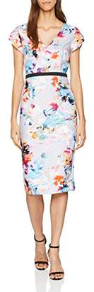 Little Mistress Women's Blur Print Bodycon Party Dress