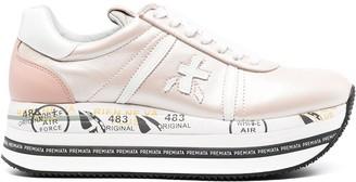 Premiata Beth leather sneakers