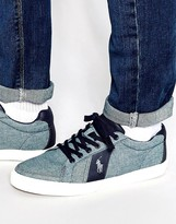 Polo Ralph Lauren Hugh Chambray Trainers