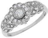 Lord & Taylor Diamond 14K White Gold Floral Ring