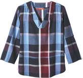 Joe Fresh Women's Madras Tunic, Burgundy (Size M)
