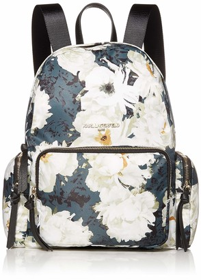 Karl Lagerfeld Paris CARA Nylon Photo Print Multi-ORG Backpack Forest Floral