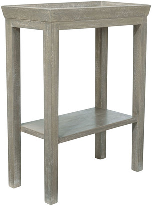 OKA Gustavian Wooden Sofa Side Table - Silver Birch