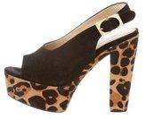 Diane von Furstenberg Ponyhair Platform Sandals