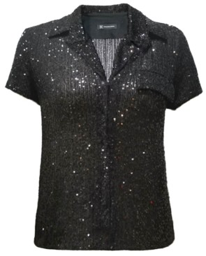 INC International Concepts Inc Sequin Shirt, Created for Macy's