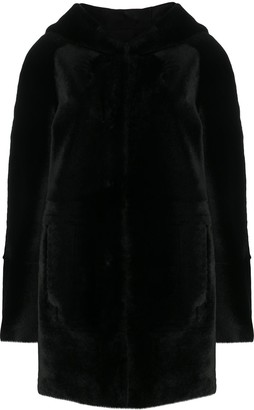 Drome Hooded Single-Breasted Coat