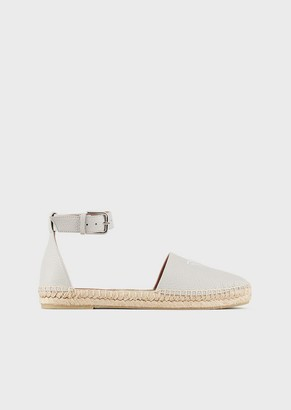 Emporio Armani Leather Espadrilles With Strap