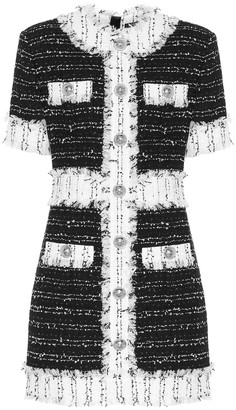 Balmain Cotton-blend tweed minidress