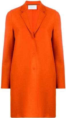 Harris Wharf London cocoon single-breasted coat
