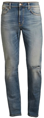 Nudie Jeans Lean Dean Repairs Straight Leg Jeans