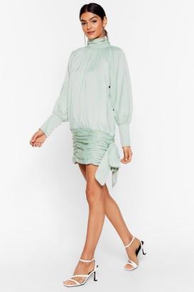 Nasty Gal Womens Tie Me a River Satin Mini Dress - Mint