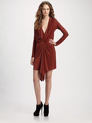 Vena Cava Pager Draped Jersey Dress