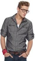 Rock & Republic Men's Herringbone Stretch Button-Down Shirt