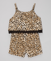 Dollhouse Leopard Romper - Infant Toddler & Girls