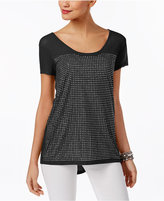 INC International Concepts Studded High-Low T-Shirt, Only at Macy's