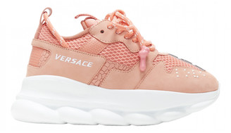 Versace Chain Reaction Pink Leather Trainers