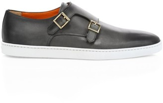 Santoni Atlantis Monk-Strap Leather Sneakers