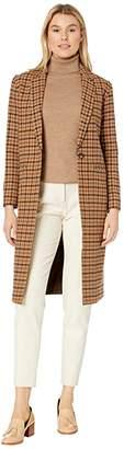 Pendleton Hudson Long Coat (Tan Mix Multi Check) Women's Coat