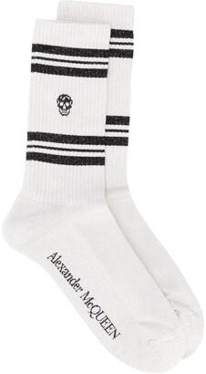 Alexander McQueen Skull-Intarsia Socks