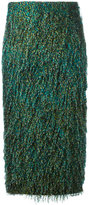 Max Mara feathered texture pencil skirt