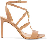 MICHAEL Michael Kors Antoinette Leather Sandals - Neutral