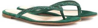 Gianvito Rossi Diva suede thong sandals