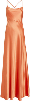 Galvan Serena Tie Back Satin Gown