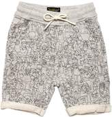 Finger In The Nose The Simpsons Print Cotton Sweat Shorts