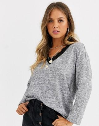 JDY Choice v neck long sleeve sweater